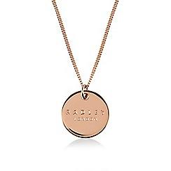 Radley - Rose gold 'Broad Street' disc pendant necklace