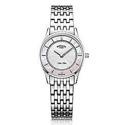 Rotary - Ladies silver 'Ultra Slim' bracelet watch