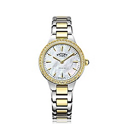 Rotary - Ladies gold and silver 'Kensington' bracelet watch