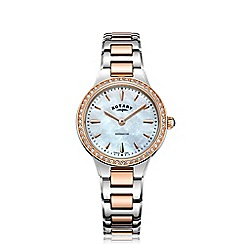 Rotary - Ladies rose gold and silver 'Kensington' bracelet watch