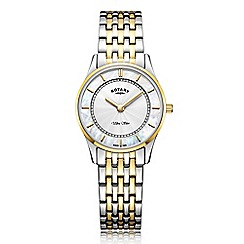 Rotary - Ladies gold and silver 'Ultra Slim' bracelet watch