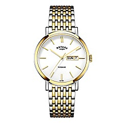 Rotary - Men's gold and silver 'Windsor' bracelet watch