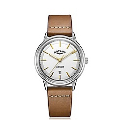 Rotary - Men's brown 'Avenger' leather strap watch
