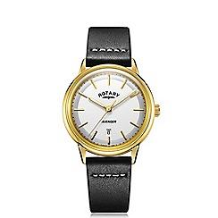 Rotary - Men's black 'Avenger' leather strap watch