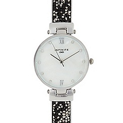 Infinite - Womens' silver plated diamante embellished analogue watch