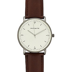 Infinite - Mens' Brown Analogue Watch