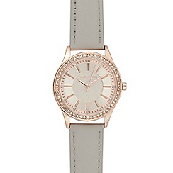 Red Herring - Womens' grey diamante embellished analogue watch