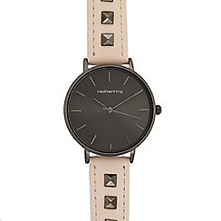 Red Herring - Womens' pink stud embellished analogue watch