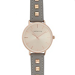 Red Herring - Womens' grey stud embellished analogue watch