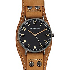 Red Herring - Mens' light brown analogue watch