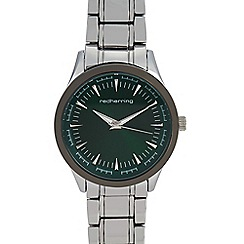 Red Herring - Mens' Silver Plated Minute Track Analogue Watch
