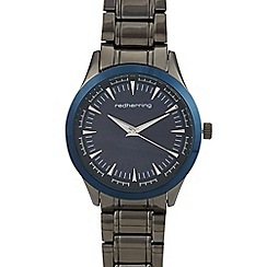 Red Herring - Mens' Grey Minute Track Analogue Watch