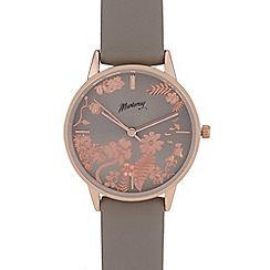 Mantaray - Womens' Grey Floral Pattern Analogue Watch and Bracelet