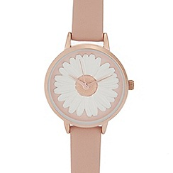 Mantaray - Womens' pink daisy analogue watch