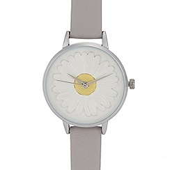 Mantaray - Womens' blue daisy analogue watch