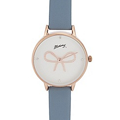 Mantaray - Womens' blue bow analogue watch