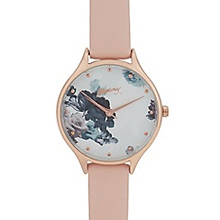 Mantaray - Womans' Pink Floral Analogue Watch