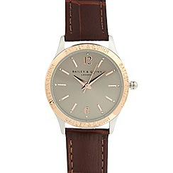 Bailey & Quinn - Ladies brown branded bezel watch