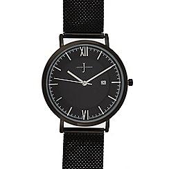 J by Jasper Conran - Mens' black mesh strap analogue watch