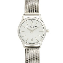 Bailey & Quinn - Ladies stainless steel branded bezel watch