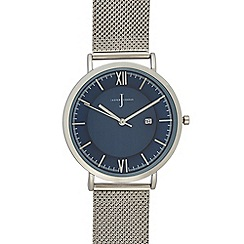 J by Jasper Conran - Mens' silver plated mesh strap analogue watch
