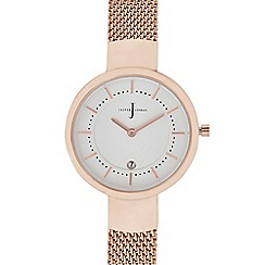 J by Jasper Conran - Womens' Rose Gold Plated Mesh Analogue Watch