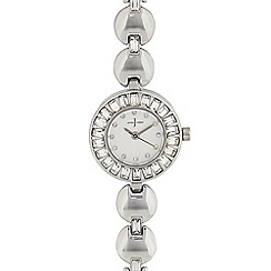 J by Jasper Conran - Womens' silver 'Pave' analogue watch