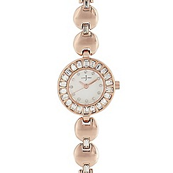 J by Jasper Conran - Womens' rose 'Pave' analogue watch