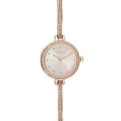 Infinite - Womens' Rose Gold Plated Diamante Analogue Watch