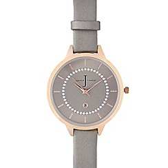 J by Jasper Conran - Ladies designer grey Swarovski dial watch