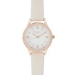 Infinite - Womens' pink diamante analogue watch