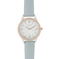 Infinite - Womens' blue diamante analogue watch