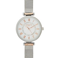 Infinite - Womens' Silver Mesh Strap Analogue Watch