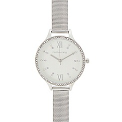 Red Herring - Womens' silver mesh strap analogue watch