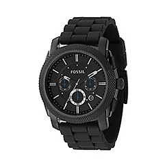 Fossil - Men's  black round face chronological watch fs4487