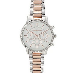 Red Herring - Womens' silver crystal sports watch