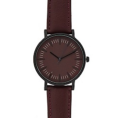 Red Herring - Womens' red analogue watch