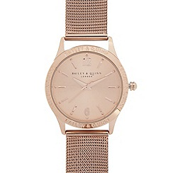 Bailey & Quinn - Ladies rose gold plated branded bezel watch