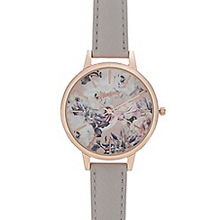 Mantaray - Womans' grey floral analogue watch