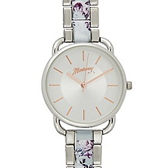 Mantaray - Womens' Silver Plated Floral Analogue Watch