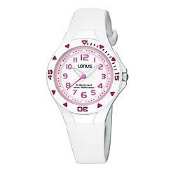Lorus - Kids' white round dial watch r2335dx9