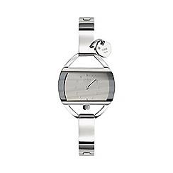 STORM London - Ladies silver rectangular dial watch temp charm silv