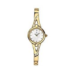 Accurist - Ladies gold analogue semi bracelet watch 8039.01