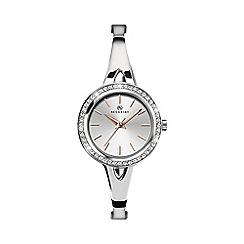 Accurist - Ladies silver analogue semi bracelet watch 8109.01