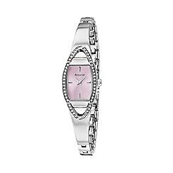 Accurist - Ladies silver analogue semi bracelet watch LB1458P.01