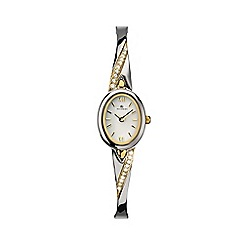 Accurist - Ladies gold and silver analogue semi bracelet watch LB1647W.01