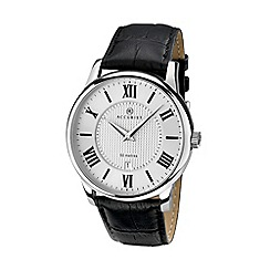 Accurist - Men's black analogue leather strap watch 7114.01