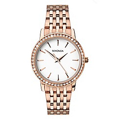 Sekonda - Ladies rose gold analogue bracelet watch 2516.28