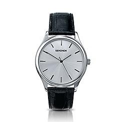 Sekonda - Men's black analogue leather strap watch 3099.28