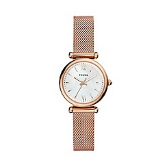 Fossil - Ladies Rose Gold Mother-of-Pearl Analogue Bracelet Watch ES4433